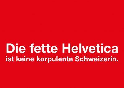 Postkarte Fette Helvetica