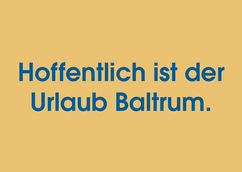 Postkarte Urlaub Baltrum